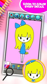 Little Girl Coloring Book screenshot 3
