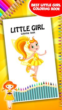 Little Girl Coloring Book poster