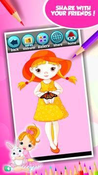 Little Girl Coloring Book screenshot 14