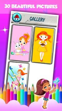 Little Girl Coloring Book screenshot 15
