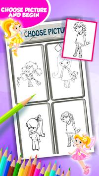 Little Girl Coloring Book screenshot 2