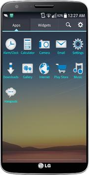 Perfect Blue LG Home Theme apk screenshot
