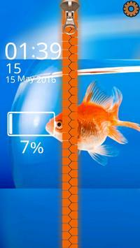 Goldfish Lock Screen Zipper apk screenshot