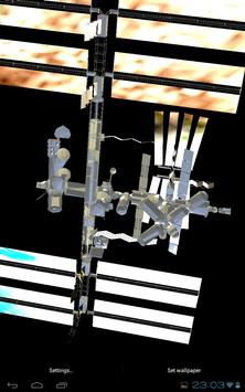 ISS 3D Space Live Wallpaper apk screenshot