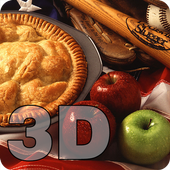 American Flag Apple Pie 3D LWP icon