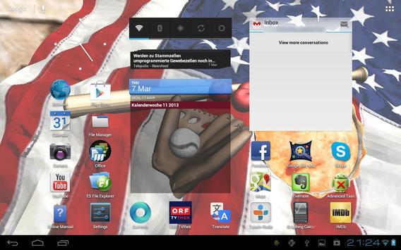 American Flag Apple Pie 3D LWP apk screenshot