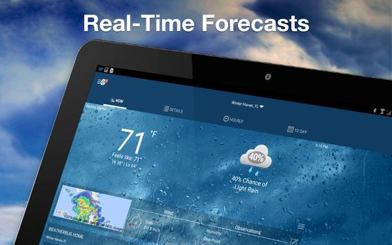 Weather by WeatherBug apk screenshot