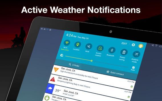 Weather by WeatherBug apk screenshot