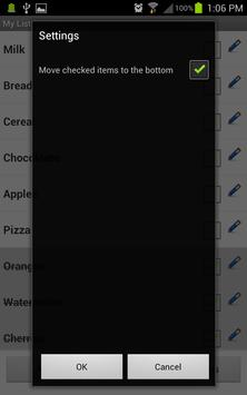 My List - Shopping / Task List screenshot 4