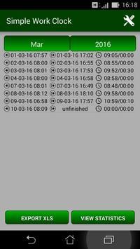 Simple Work Clock apk screenshot