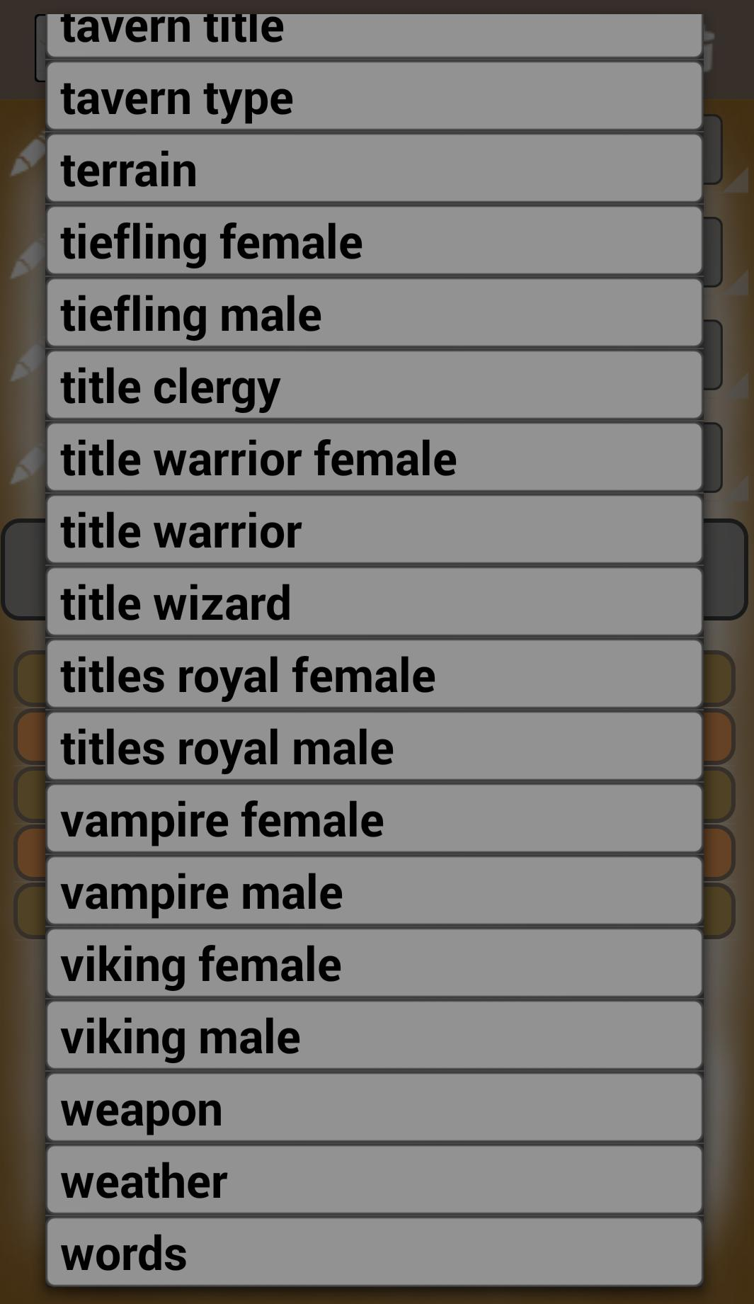 Generate Fantasy Names for Android - APK Download