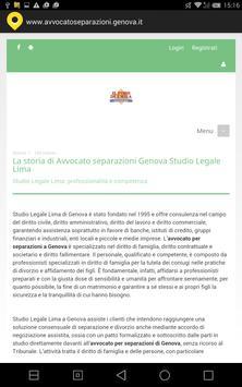 Avvocato separazioni Genova apk screenshot