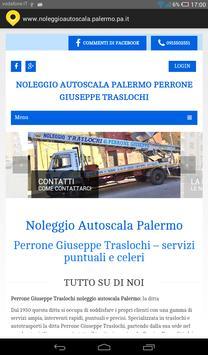 Noleggio autoscala Palermo poster