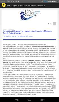 noleggio gommoni Messina apk screenshot