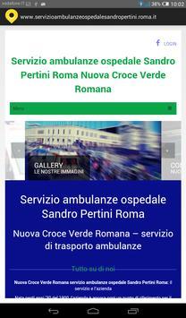 Servizio ambulanze Roma poster