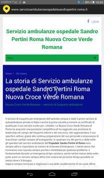 Servizio ambulanze Roma apk screenshot
