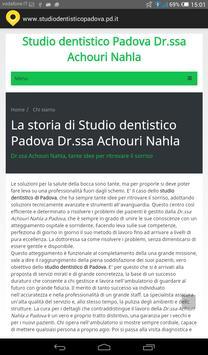 Studio dentistico Padova screenshot 1