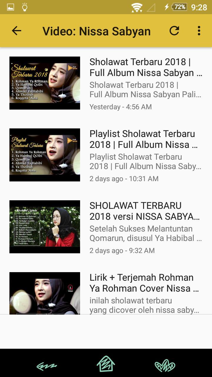 ⭐ Download video nissa sabyan ya habibal qolbi lirik