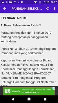 Panduan Tes Seleksi SDM PKH poster