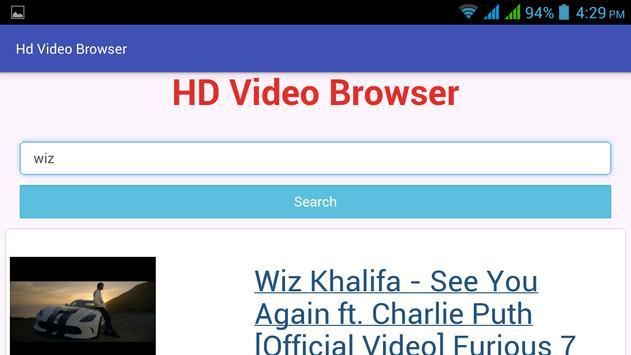 HD Video Browser apk screenshot