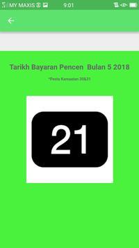 Tarikh Gaji Pencen 2018 screenshot 2