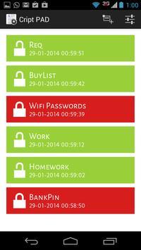 Secure Notes FREE screenshot 1