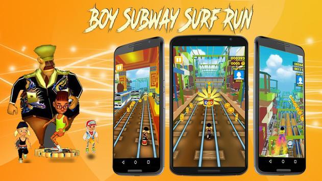 Boy Subway-Surf Run poster