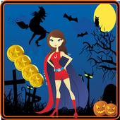 Amazing Girl Halloween Run icon