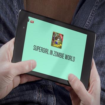 Supergirl in Zombie World apk screenshot