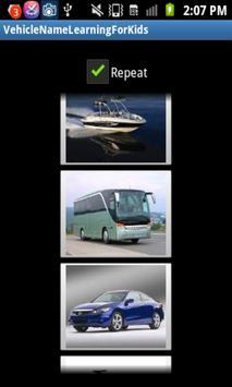 Learn Vehicle For Kids apk screenshot