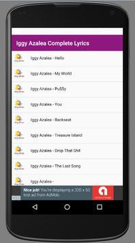 Iggy Azalea Complete Lyrics apk screenshot