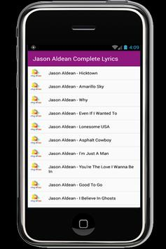 Jason Aldean Complete Lyrics apk screenshot