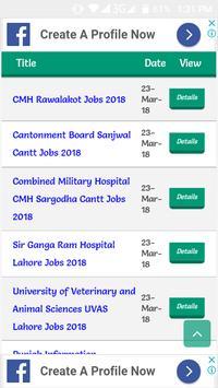 Latest Jobs in Pakistan 2019 screenshot 2