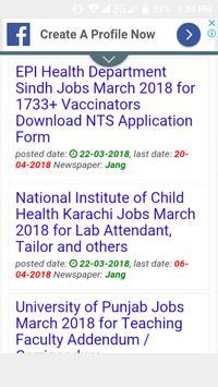 Latest Jobs in Pakistan 2019 screenshot 4