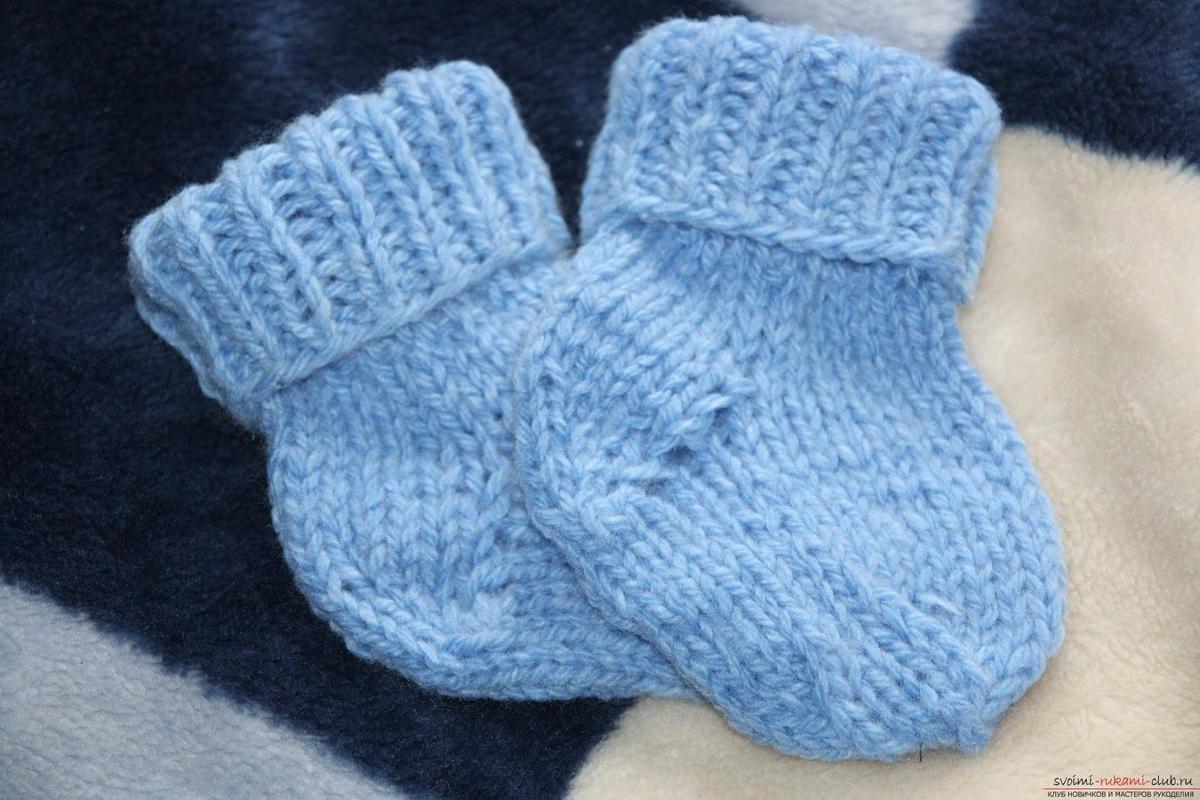 Вязание носочек для новорожденных мальчиков крючком