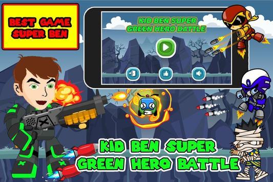Kid Ben Super Green Hero Battle poster