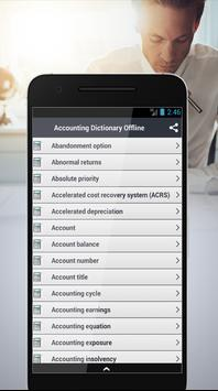 Accounting Dictionary Offline screenshot 1