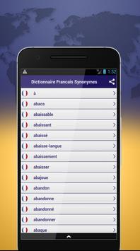 Dictionnaire Francais Synonymes screenshot 1