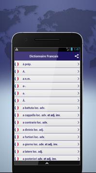 Dictionnaire Francais screenshot 1