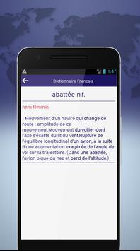 Dictionnaire Francais screenshot 2