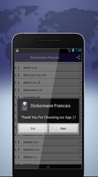 Dictionnaire Francais screenshot 3