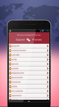 Diccionario Español Francés screenshot 1