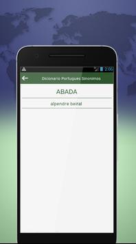 Dicionario Portugues Sinonimos screenshot 2