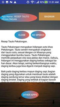 RESEP TAUTO PEKALONGAN screenshot 1