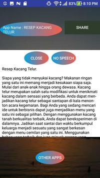 RESEP KACANG TELUR screenshot 1