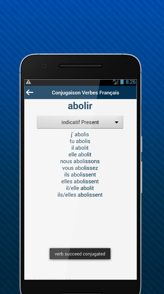 Conjugaison Verbes Francais For Android Apk Download