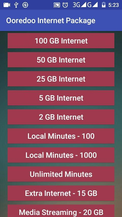 Ooredoo Internet Package (Kuwait) for Android - APK Download