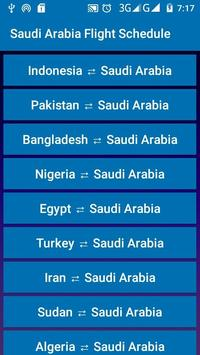 Saudi Arabia Flight Schedule poster