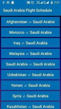 Saudi Arabia Flight Schedule screenshot 1