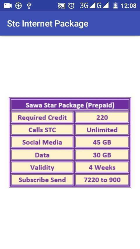 STC Internet Package for Android - APK Download